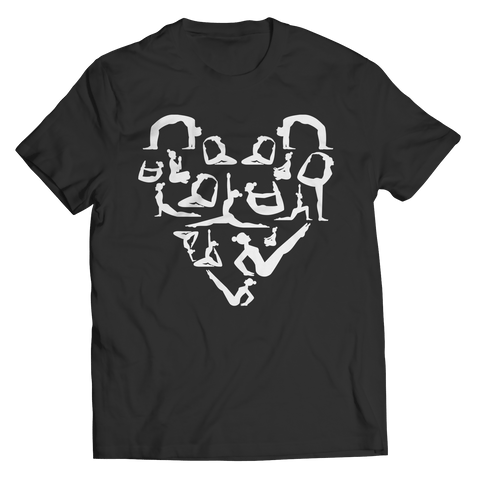 Unisex Shirt - Limited Edition - Yoga Stretch Heart Shape Tee