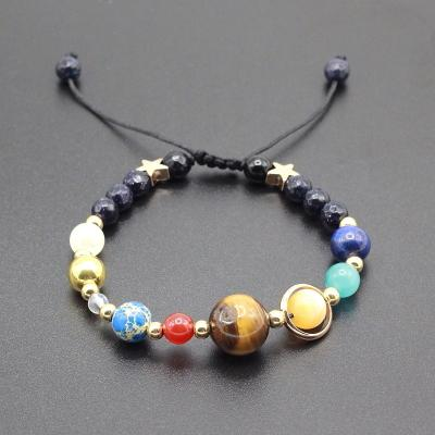 Image of Universe Planet Guardian Star - Natural Stone Bead Bracelet - Universe Planet Guardian Star - Natural Stone Bead Space Bracelet