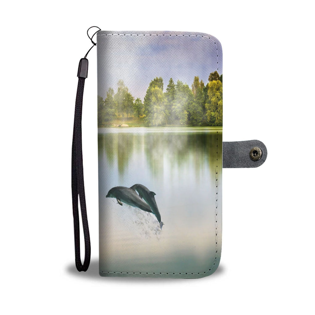 Wallet Case - Serene Dolphins & Mermaid Wallet Phone Case