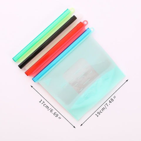 Image of 4 Reusable Silicone Food Bags
