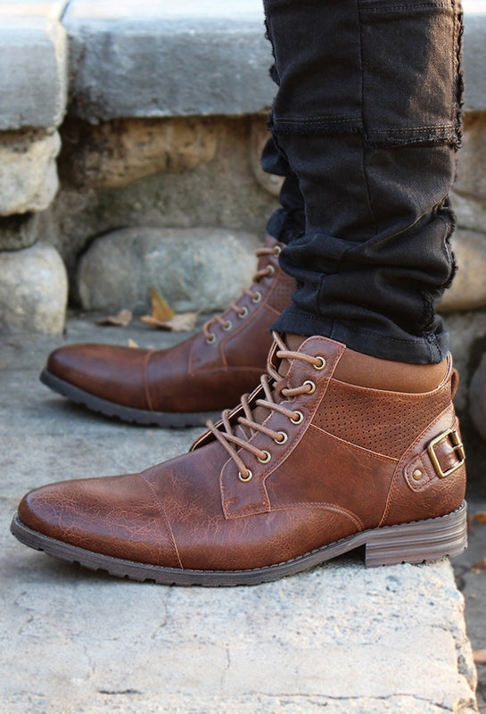 Comfortable Combat Boots | Christopher Brown | Made for Travel Long Stand and Walk