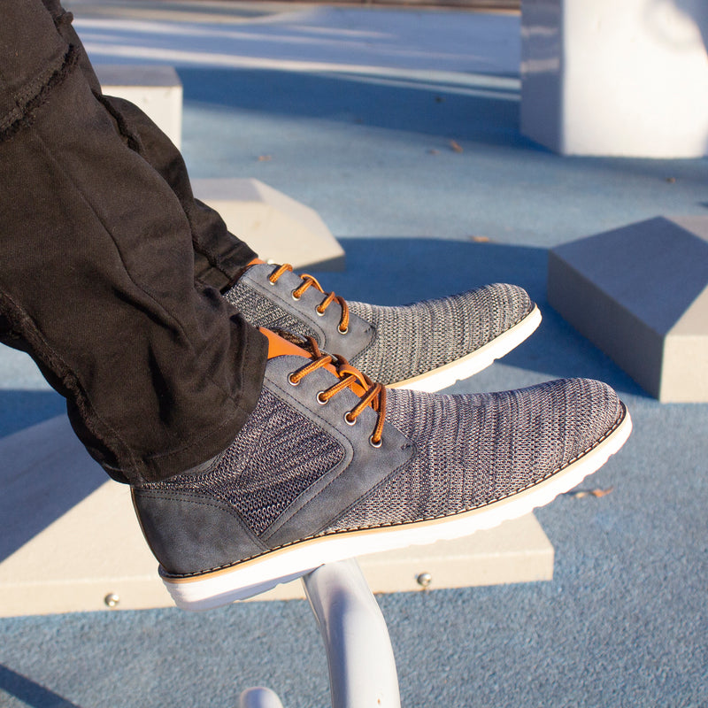 Knitted Sneaker Boots With Black Pants Bohort Potography