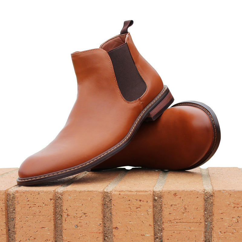 Men's Fashion Chelsea Brown Boots Barrett