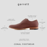 Brown Men's Classic Lace Up Oxford Shoes Garrett