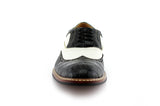 Black Crocodile Grain Casual Shoes Men Front View