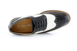 Black Crocodile Grain Casual Shoes Men Top View
