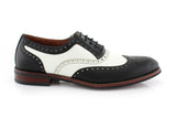 Vintage Wedding Groom Best Men Black/White Shoes Arthur Side View