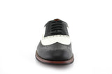 Vintage Wedding Groom Best Men Black/White Shoes Arthur Front View