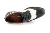 Vintage Wedding Groom Best Men Black/White Shoes Arthur Top View