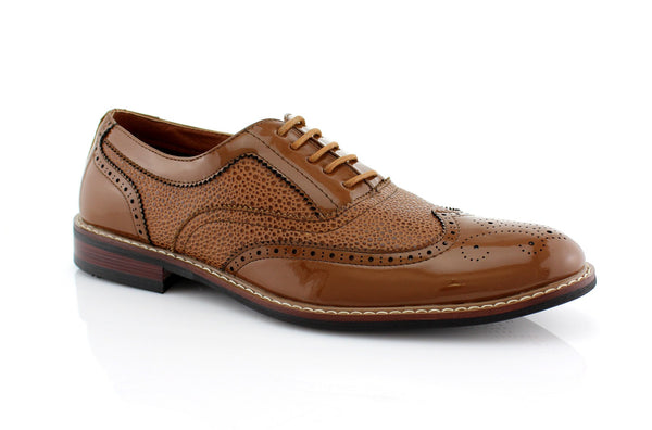 Brown Wingtip Full Brogue Oxford Adam Side