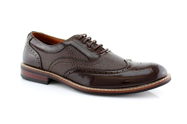 Dark Chocolate Wingtip Full Brogue Oxford Adam Side