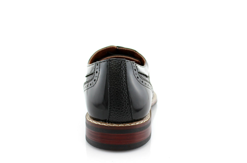 Black Wingtip Full Brogue Oxford Adam Back