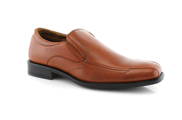 Brwon Square Toe Men's Business Shoes David Side