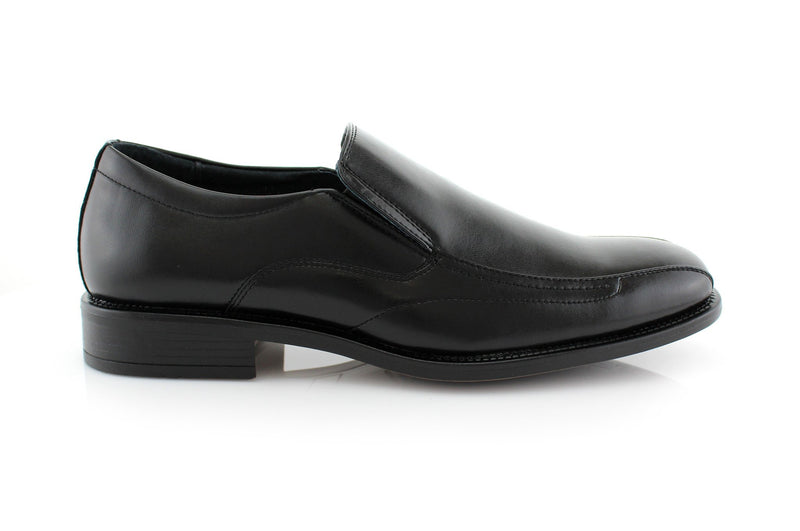 Black Square Toe Men's Business Shoes David Side