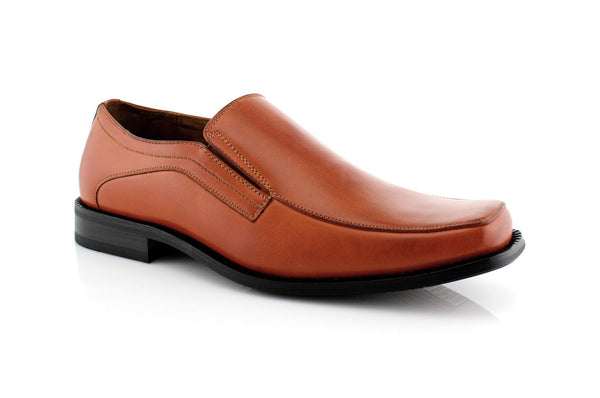 Brown Slip On Mens Business Shoes Delli Aldo Men's Shoes Deals Side