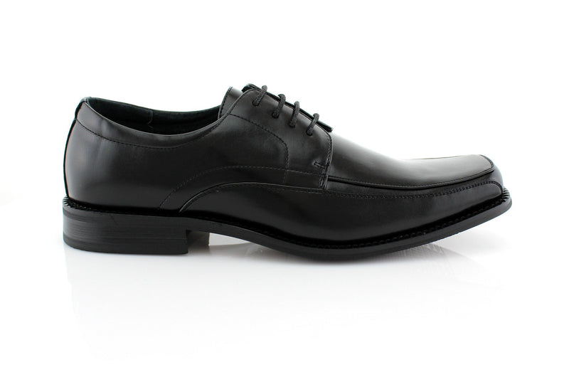 Buy Black Lace Up Formal Business Shoes Side View Dominic