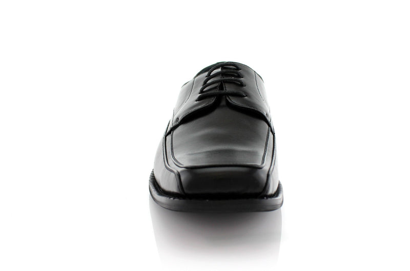 Buy Black Lace Up Formal Business Shoes Front View Dominic