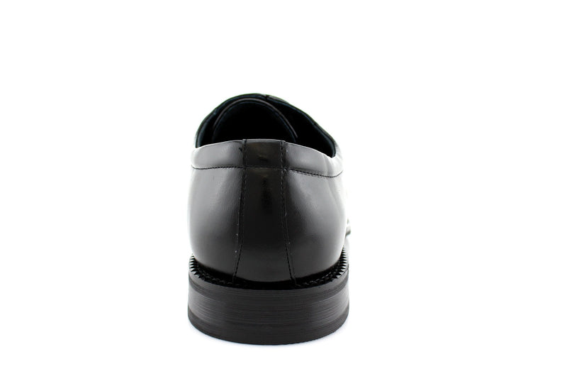 Buy Black Lace Up Formal Business Shoes Back View Dominic