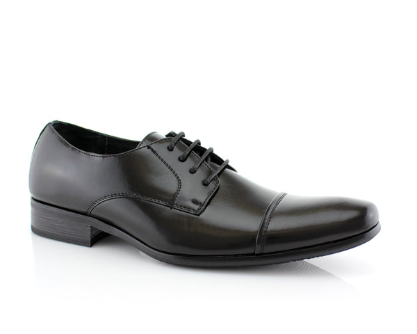 Black & White Men's Dress Shoes | Easton | Delli Aldo Semi Brogues Footwear | CONAL FOOTWEAR
