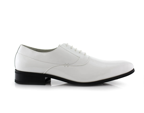 Men's White Dancing Formal Shoes Frank Side View