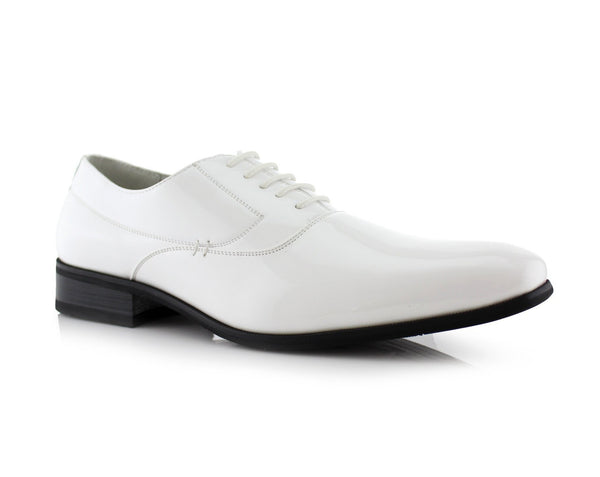 Men's Dancing Shoes | Frank | White & Black Formal Dress Shoes | CONAL FOOTWEAR Since 1983