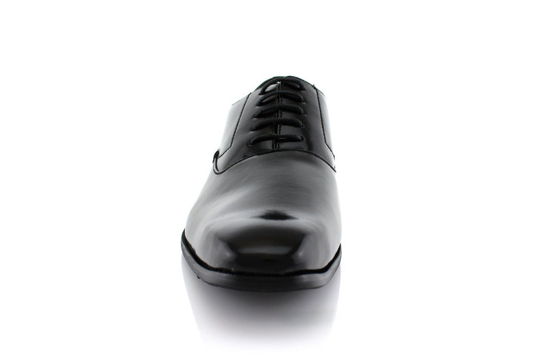 Men's Black Dancing Formal Shoes Frank Front View