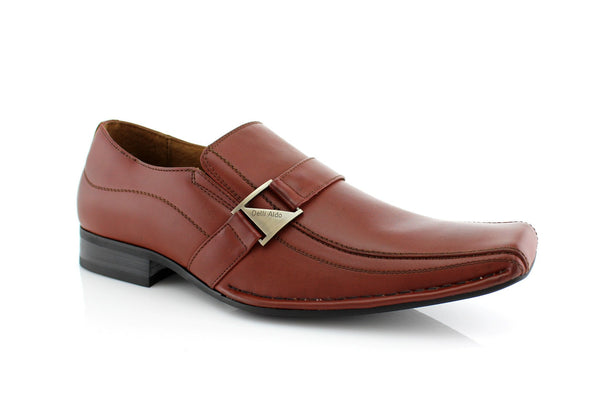 Red Classic Loafer Shoes Felipe Side View