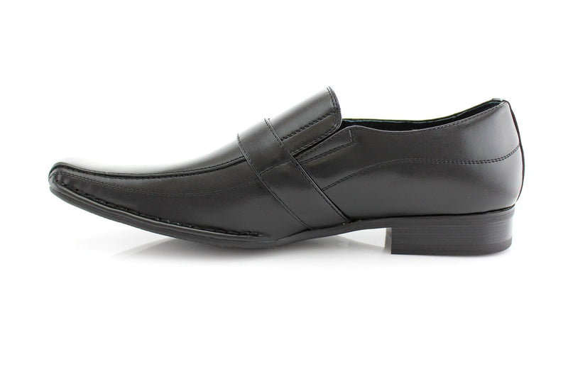 Black Classic Loafer Shoes Felipe Side View