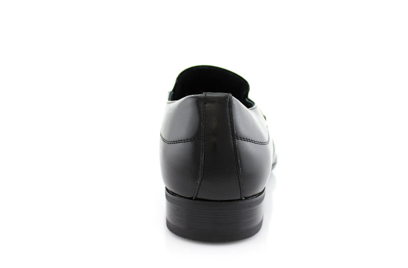 Black Classic Loafer Shoes Felipe Back View