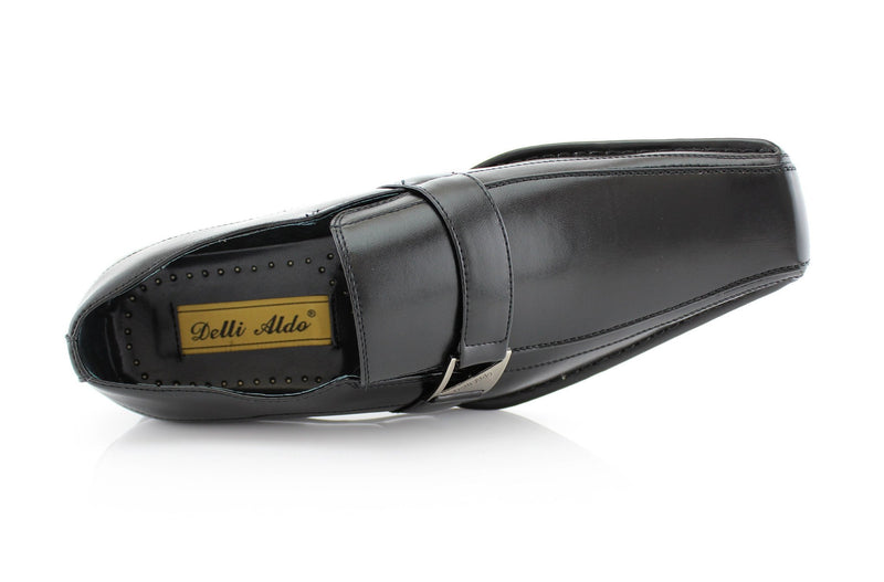 Black Classic Loafer Shoes Felipe Top View