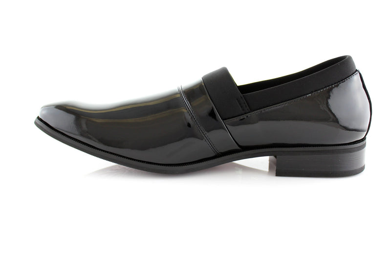 1970s-80s Style Classic Black Men's Wedding Dress Shoes Jeffery Side View