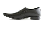 Black Classic Square Toe Man Formal Business Work Shoes Jose Side
