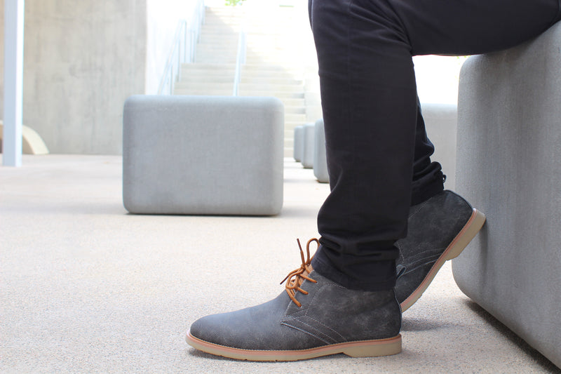 Lace Up Fashion Casual Gray Chukka Marvin Conal Foorwear