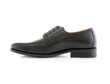 Derby Business Dress Black Shoes For Men's Business Job Nathan Side View