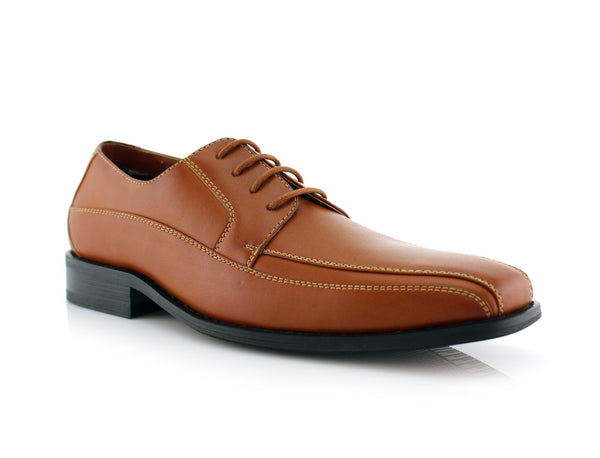 Derby Business Dress Brown Shoes For Men's Business Job Nathan Side View