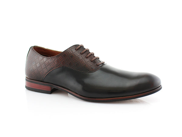 Men's PU Brown Business Shoes Jory Side View