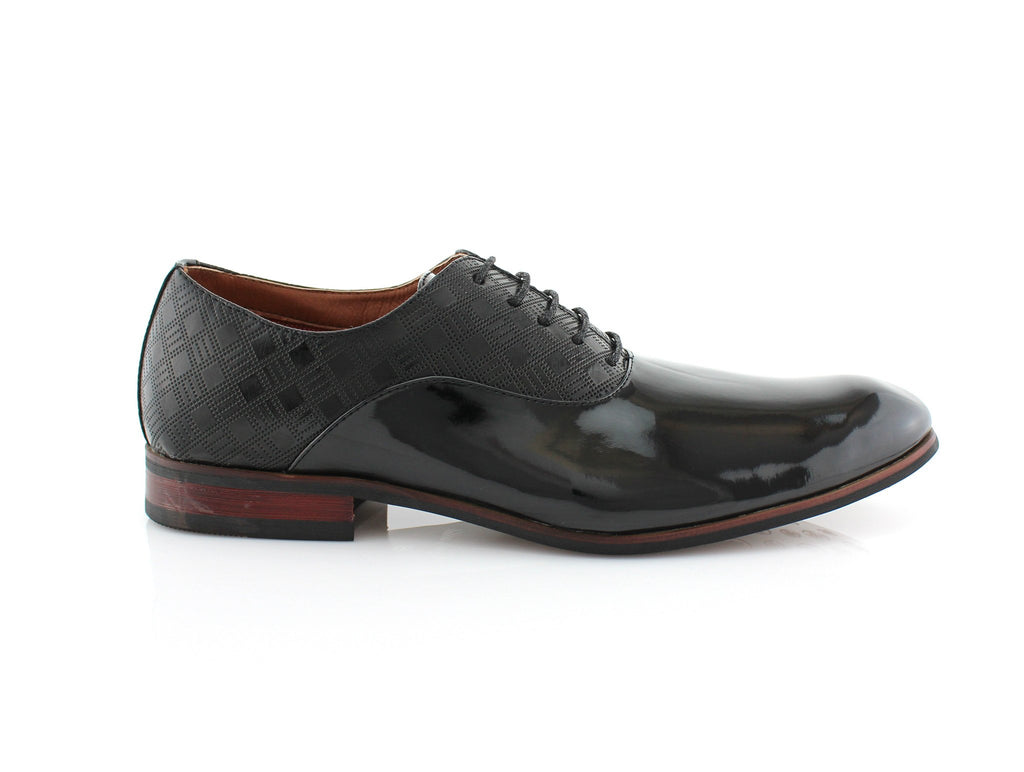 Men's PU Black Business Shoes Jory Side View