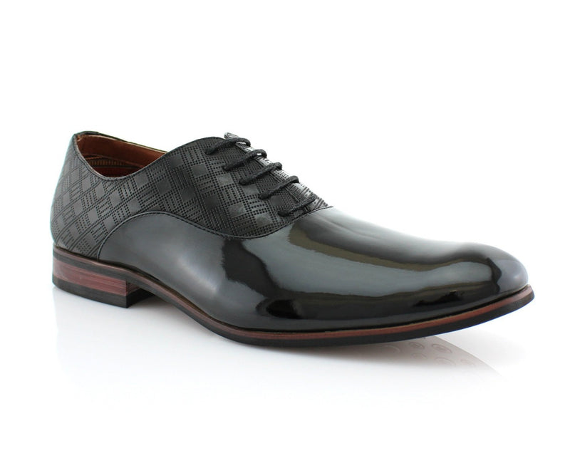 Men's PU Business Shoes | Joey | Patent Leather Formal Oxford | CONAL FOOTWEAR