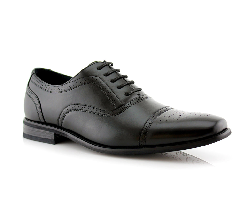 Classic Brogue Men's Oxford | Todd | Perforated Dress Shoes | CONAL FOOTWEAR