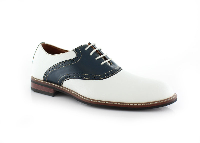 Color Bump Dress Shoes For Men Jordan Blue /White Side