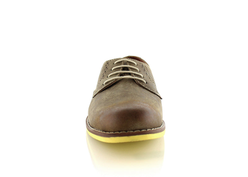 Burnished Brwon Summer Casual Shoes by Ferro Aldo Front View
