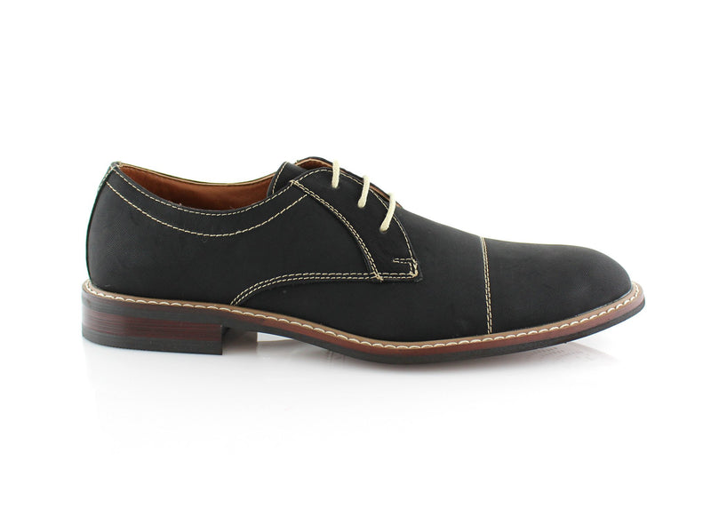 Black Men's Lace-up Oxford Shoes To Buy Jason Conal Footwear Side View