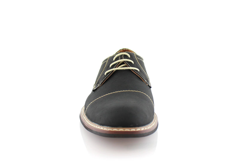 Black Men's Lace-up Oxford Shoes To Buy Jason Conal Footwear Front View