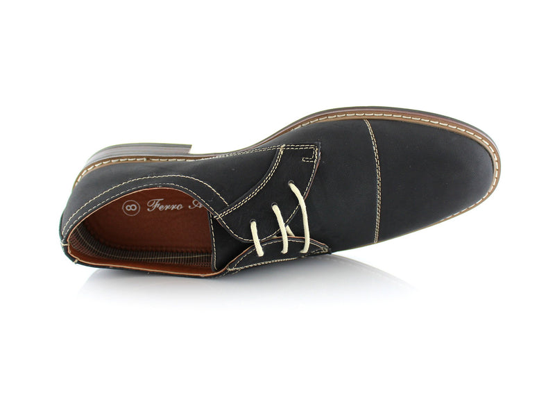 Black Men's Lace-up Oxford Shoes To Buy Jason Conal Footwear Top View