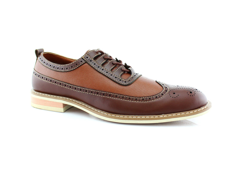 Men's Fashion Outfit Vintage Brown Shoes Side View