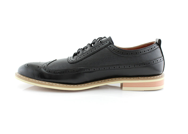 Men's Fashion Outfit Vintage Black Shoes Side View