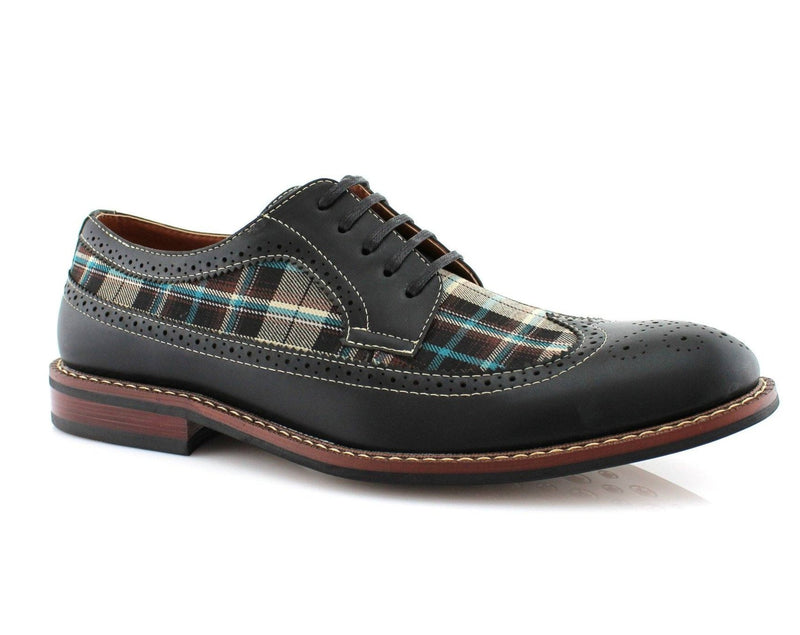 Vintage Plaid Brogue Wingtip Shoe by Conal Footwear Ferro Also