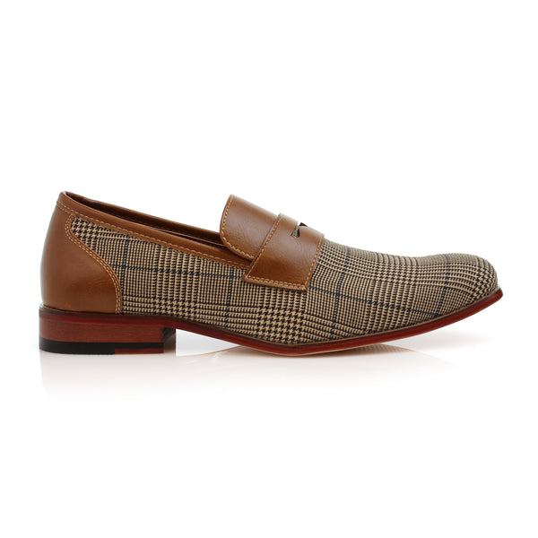 Plaid Loafer For Men | Sidney | Dress Shoes For Vegan | CONAL FOOTWEAR Since 1983
