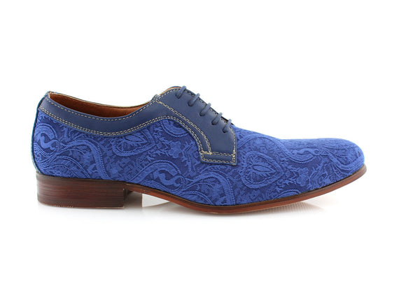 Men's Ball Room Dancing Shoes Vivid Blue William Side View