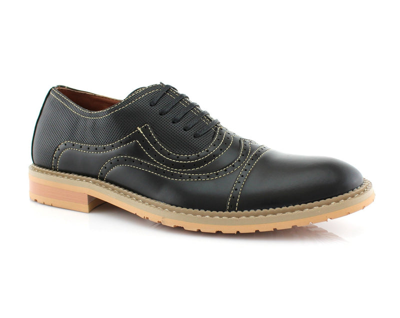 Casual Brogue Shoe | Xavier | Wingtip Cap Toe Perforated Oxford Men's Shoes | CONAL FOOTWEAR